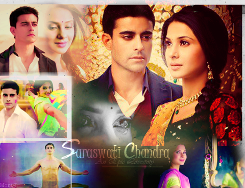 Saraswatichandra (TV series) karatasi la kupamba ukuta possibly with anime and a portrait called Saraswatichandra