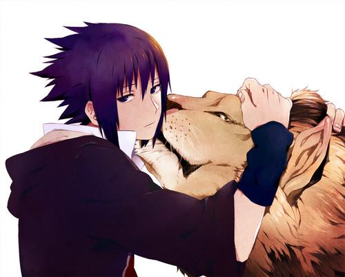 Sasuke and his inner beast