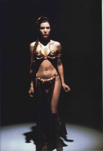 étoile, étoile, star Wars fond d'écran probably with a breastplate titled Slave Leia