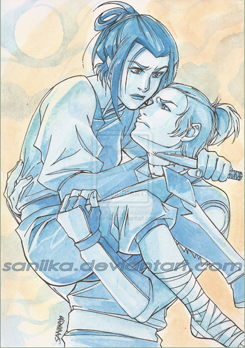 Sokka and Azula