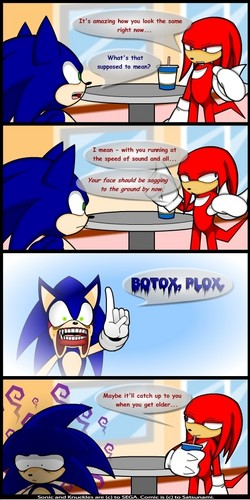 Sonic is told about speed