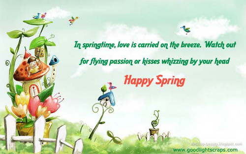 Spring wishes card