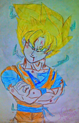 Dragon Ball Z Kai wallpaper possibly with animê titled Super saiyan Goku....