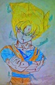Super saiyan Goku.... - dragon-ball-z-kai fan art