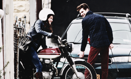 The Amazing Spider Man 2 Set, in New York with Shailene Woodley (26/02)