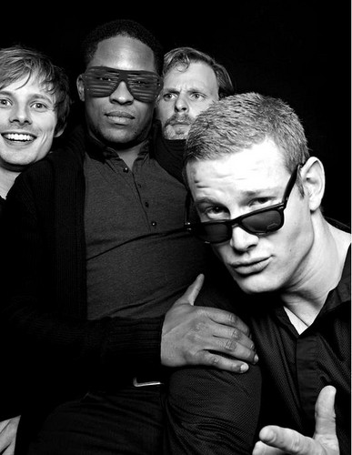 Bradley James wallpaper containing sunglasses called The Wrap Party