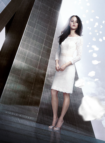 Catching Fire wallpaper possibly containing a sign titled Victory Tour - Katniss Everdeen
