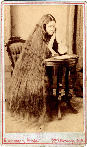 Vintage Lady with beautiful long hair