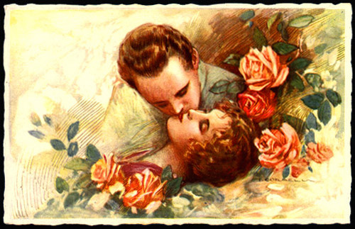 Vintage Postcard - Lovely Couple