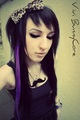 Vivi Bunnycore black and purple emo scenehair - emo-girls photo