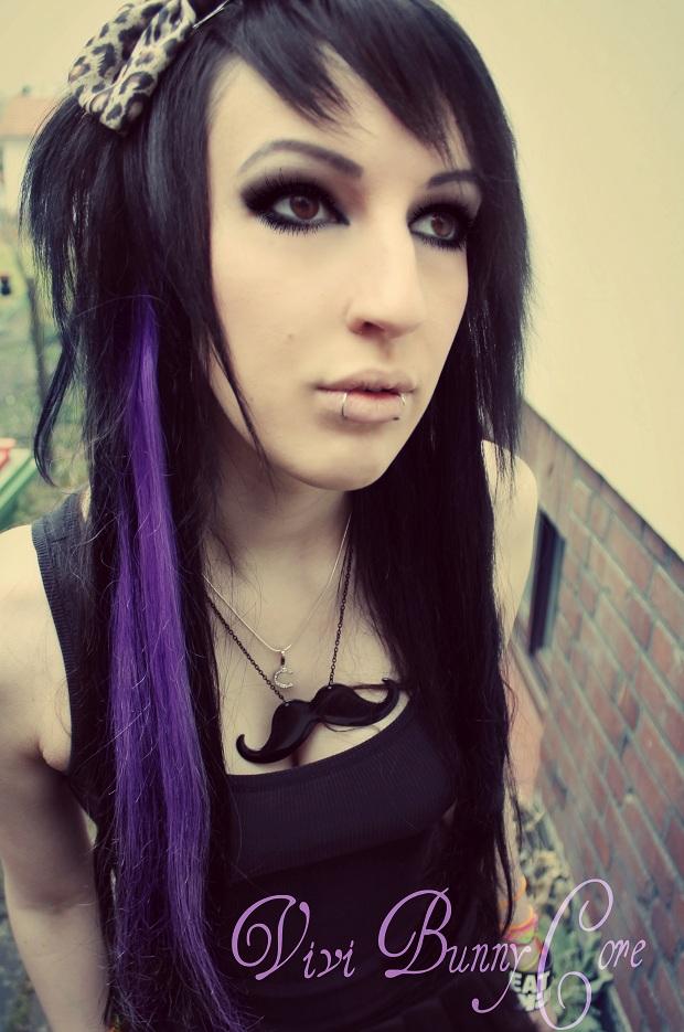 vivi bunnycore black purple emo scene hair emo girls