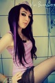 Vivi Bunnycore scenequeen black purple hair - emo-girls photo