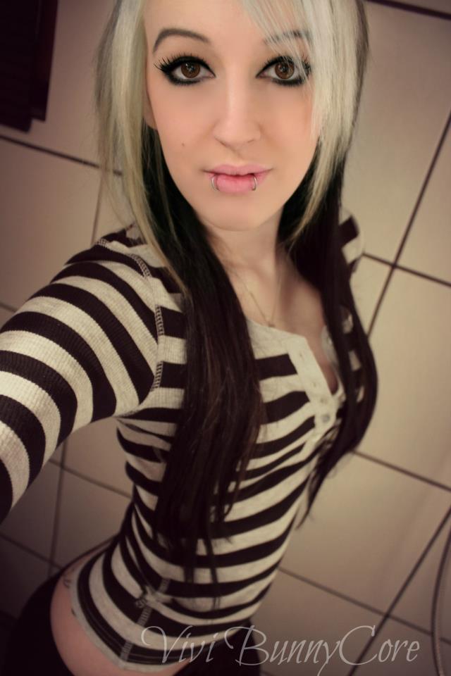 Emo Girls Images Vivi Bunnycore White And Black Emo Scene Hair Hd