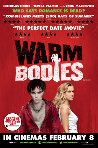 Warm Bodies Movie Hintergrund containing Anime entitled Warm Bodies UK Poster