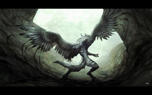 chó sói, sói With Wings