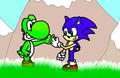 Yoshi Meets Sonic