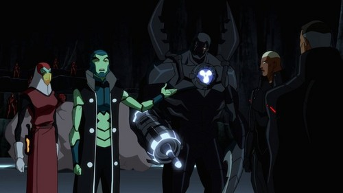 "Young Justice karatasi la kupamba ukuta possibly with a diving suit called Young Justice Epiosde 44 ""Intervention"""