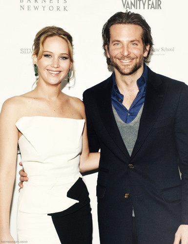 Bradley Cooper wallpaper containing a business suit and a well dressed person called bradley cooper & jennifer lawrence