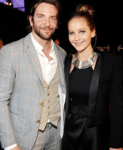 Bradley Cooper wallpaper with a business suit, a suit, and a dress suit entitled bradley cooper & jennifer lawrence