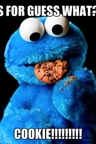 Cookie Monster wolpeyper titled cookie