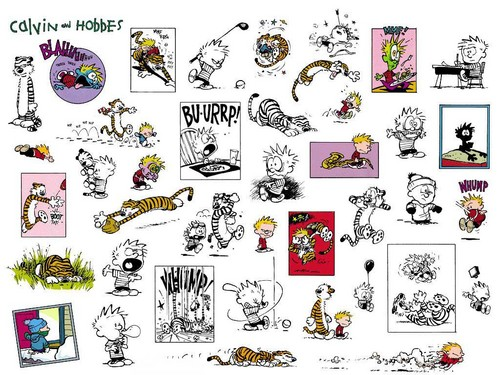 Calvin & Hobbes wallpaper entitled farewell