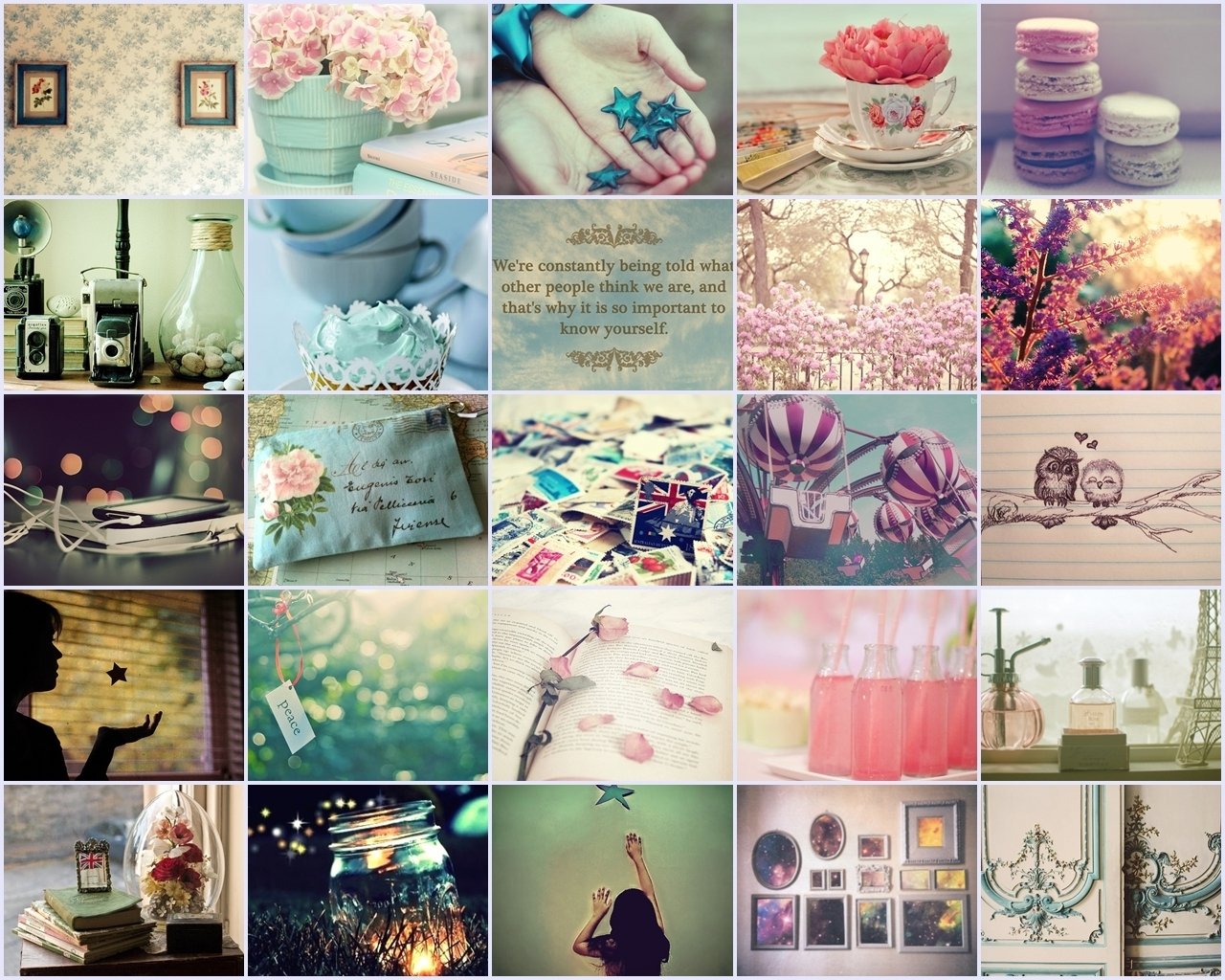 girly collage wallpaper - photo #2