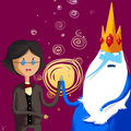 ice king and Simon touch