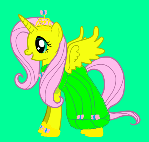 if fluttershy was a princess