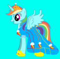 if rainbow dash was a princess
