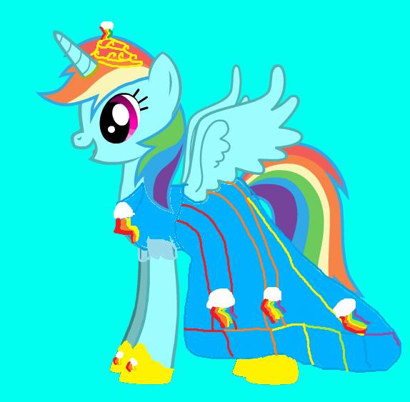 if rainbow dash was a princess