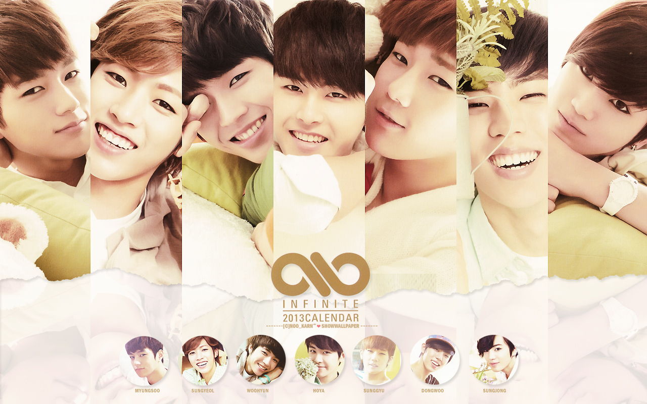 infinite calendar 2013 infinite wallpaper