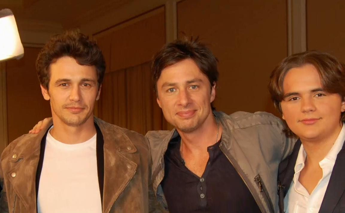 james franco, zach braff and michael jackson's son prince jackson on ETonline feb 2013