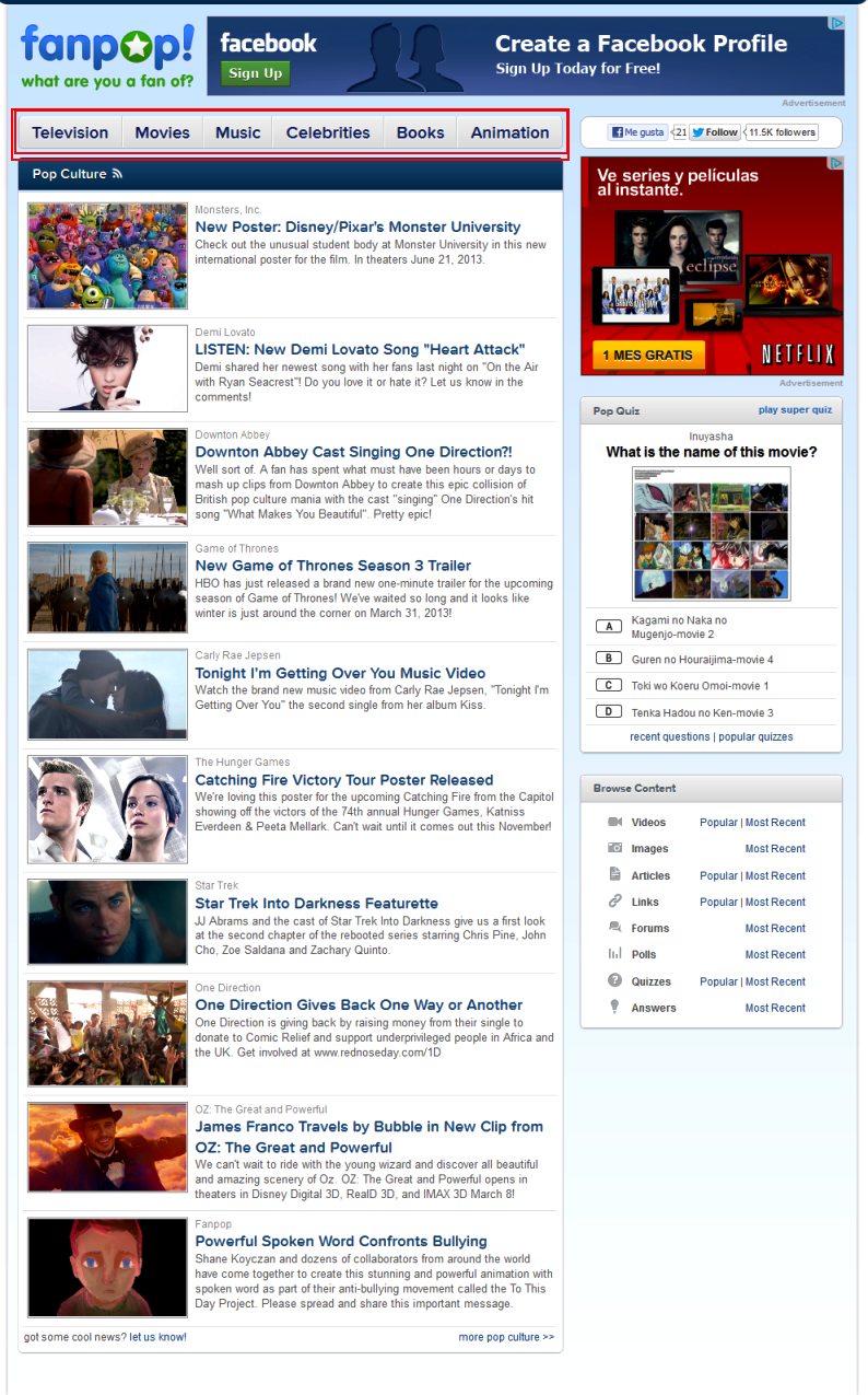 new homepage redesign
