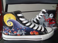 nightmare before christmas custom hand painted shoes - nightmare-before-christmas photo
