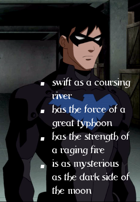 Teen Titans vs. Young Justice Обои containing a sign titled nightwing