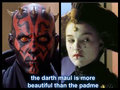 padme and darth maul - star-wars fan art