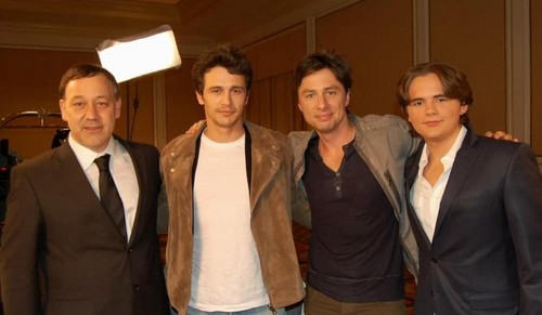 sam raimi, james franco, zach braff and michael jackson's son prince jackson on ETonline feb 2013