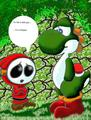 shy guy and the yoshi