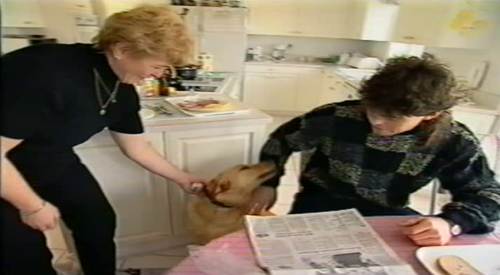 young Jagr with mother and dog