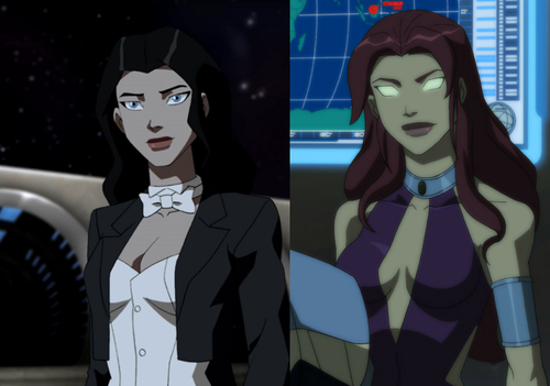 Teen Titans vs. Young Justice fond d'écran titled zatanna and starfire