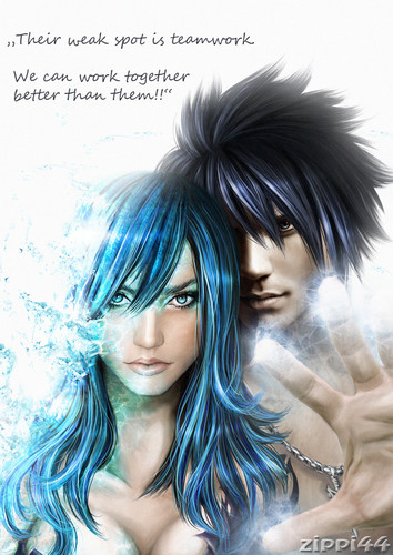 Fairy Tail fond d'écran possibly with a portrait entitled ♥ Gray X Juvia ♥
