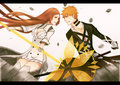  Inoue vs Kurosaki by orichie - ichigo-and-orihime fan art