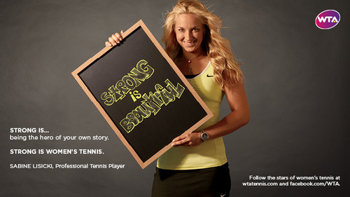 Sabine Lisicki in Strong Is Beautiful: Celebrity Campaign