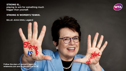Billie Jean King in Strong Is Beautiful: Celebrity Campaign