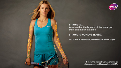 Victoria Azarenka in Strong Is Beautiful: Celebrity Campaign