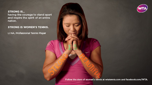 Li Na in Strong Is Beautiful: Celebrity Campaign