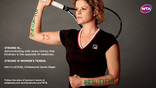 Kim Clijsters in Strong Is Beautiful: Celebrity Campaign