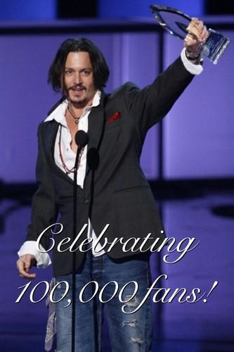 100,000 Johnny Depp fans!