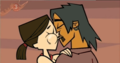 Alejandro and Heather kiss (Color-Swapped)