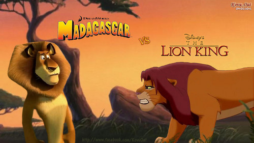 Alex madagascar meet fight Simba Vua sư tử
